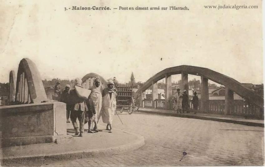 Alger maison carree pont sur l harach