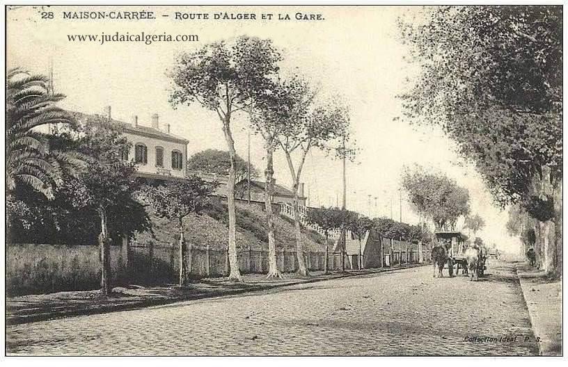 Alger maison carree route d alger et la gare