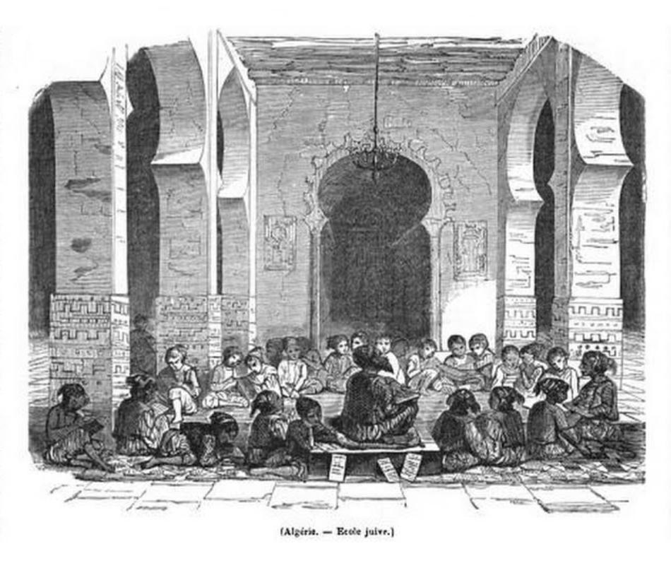 Algerie ecole juive 1845