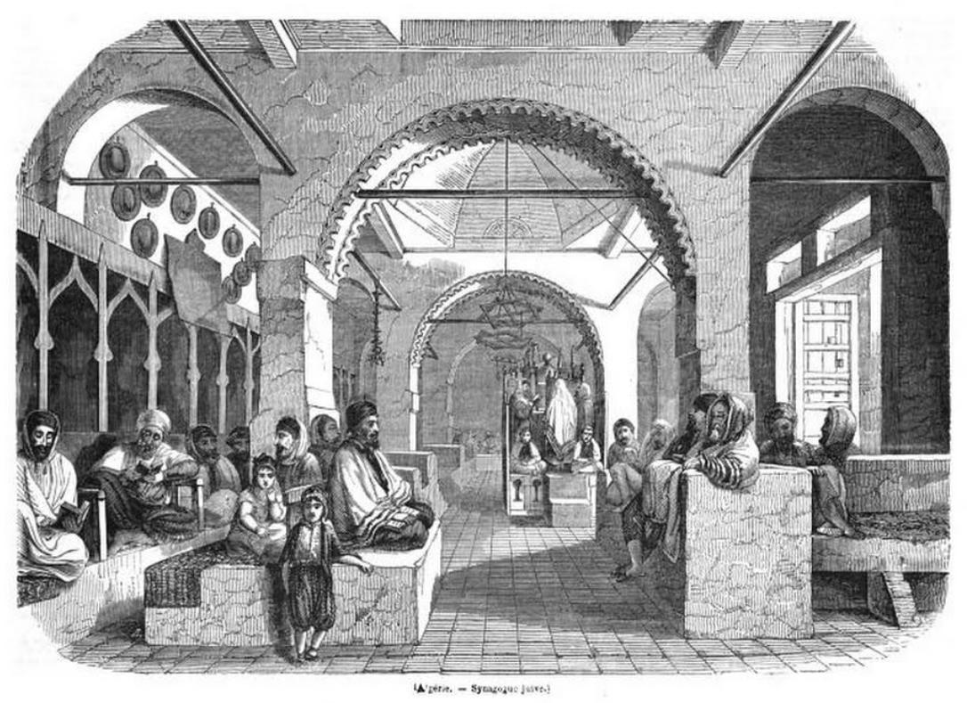 Algerie synagogue juive 1845