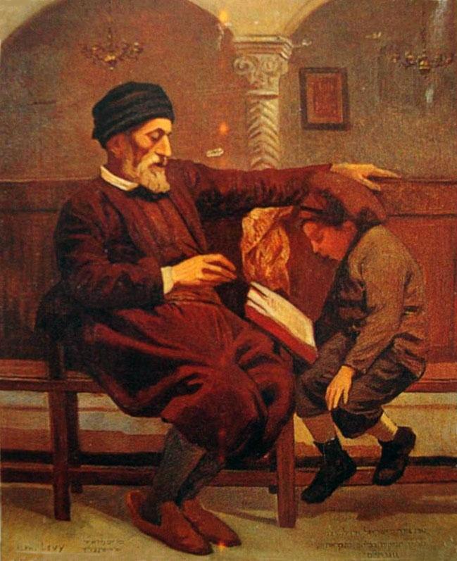 Alphonse levy rabbin enseignant un enfant