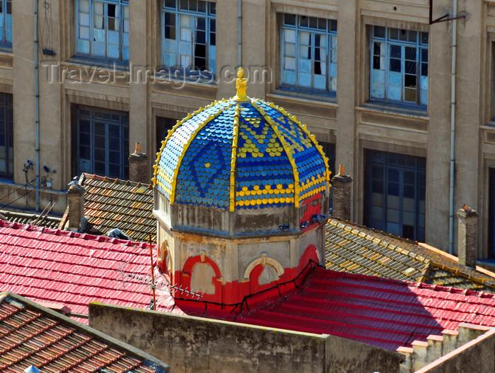 Bejaia synagogue le dome en mosaique multicolore