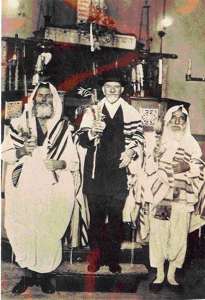 Bou saada algeria synagogue jewish simchat torah