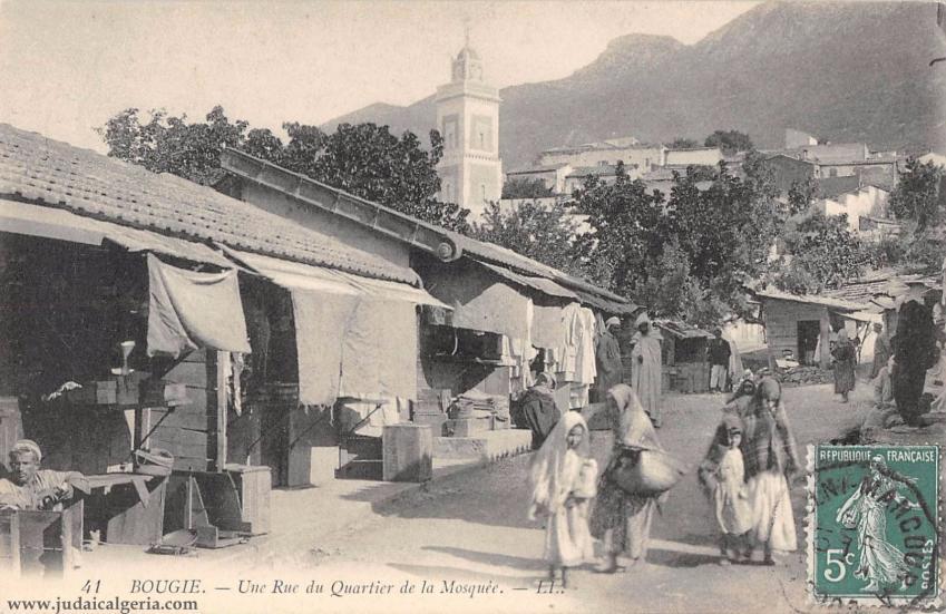 Bougie une rue du quartier de la mosquee