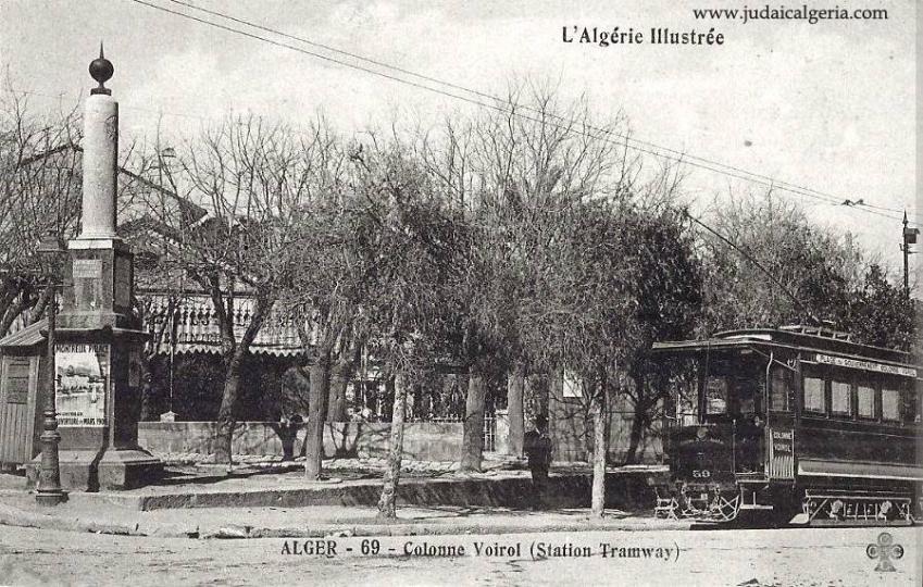 Colonne voirol la station de tramway