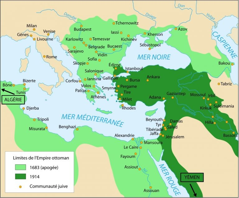Communautes juives empire ottoman 768x637