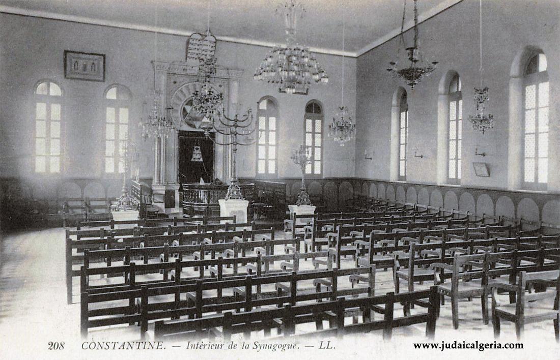 Constantine interieur de la synagogue
