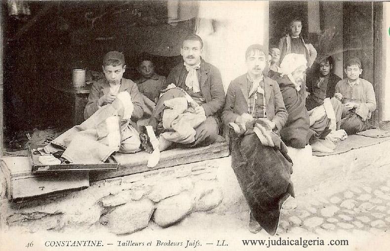 Constantine tailleurs et brodeurs juifs