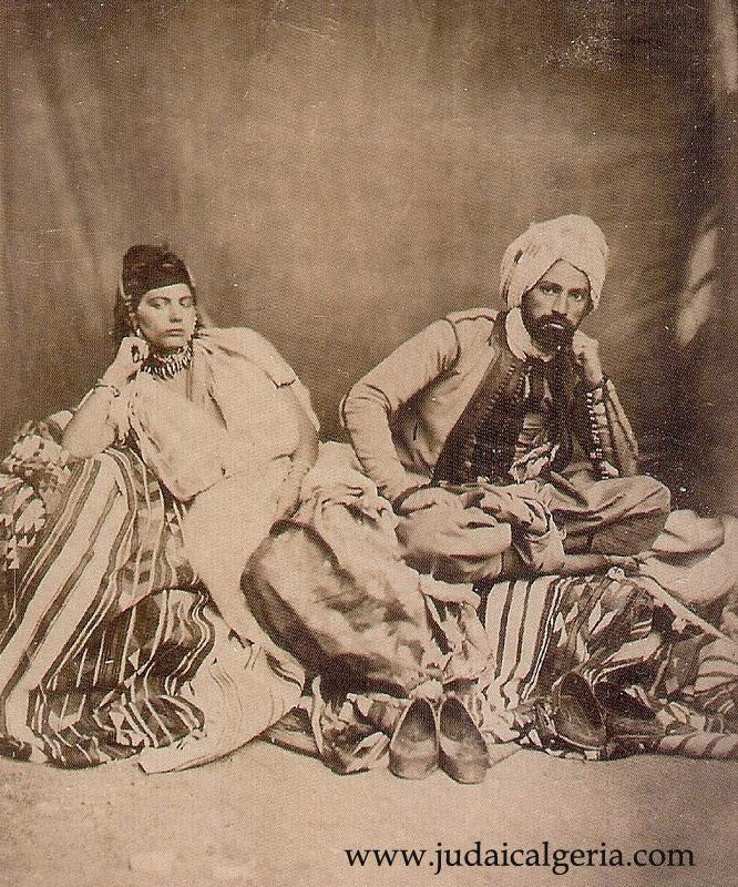 Couple de juifs de constantine milieu du 19eme siecle
