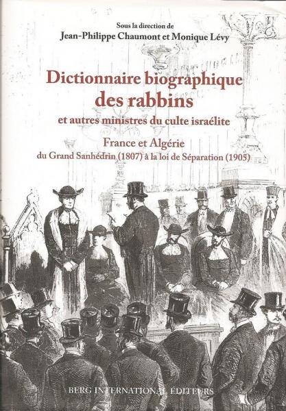 Dictionaire biographique des rabbins