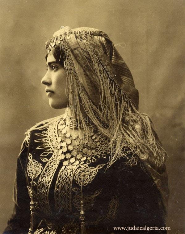 Femme juive d algerie en tenue typique 1890