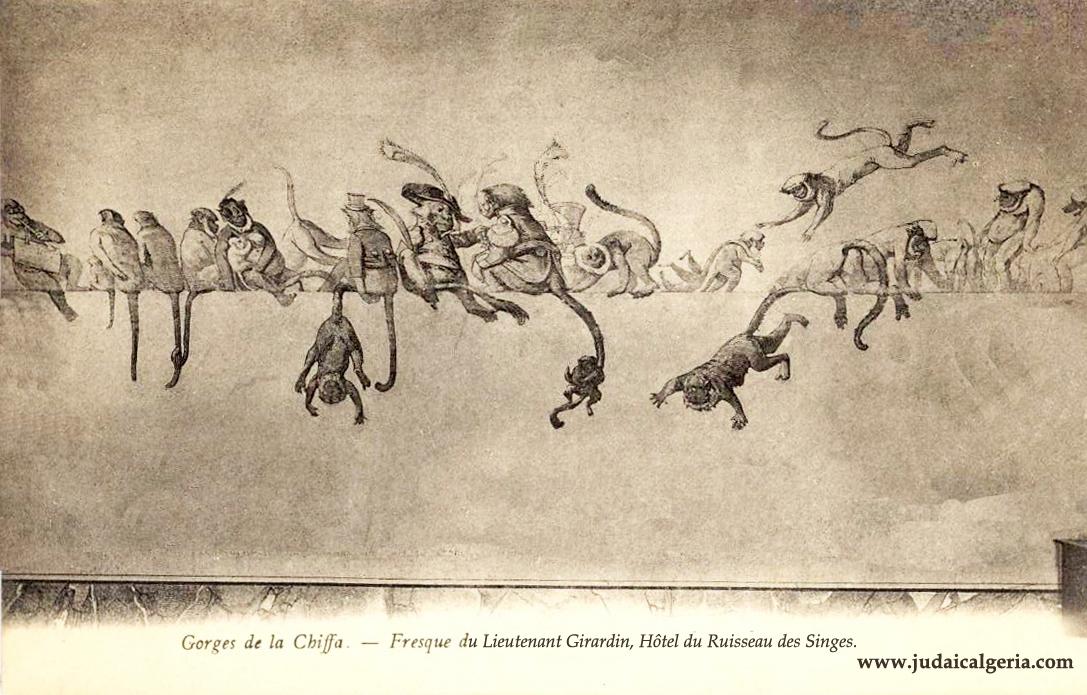 Gorges de la chiffa fresque du lieutenant girardin auberge ruisseau des singes