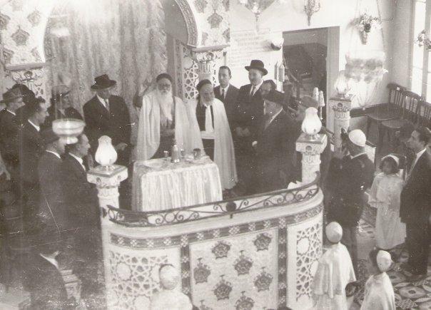 Inauguraion de la synagogue de sidi mabrouk a constantine dont le rabbin etait david doukhan