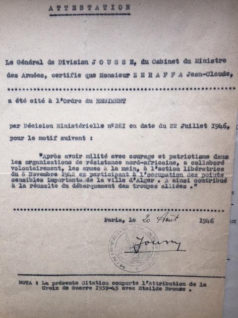 Jean claude zerapha citation