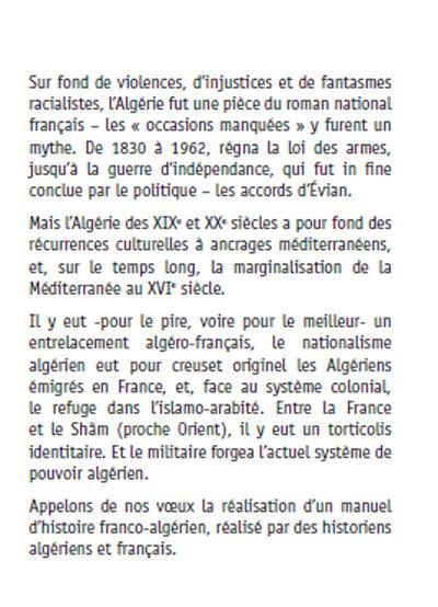 L algerie et la france deux siecles d histoire croisee