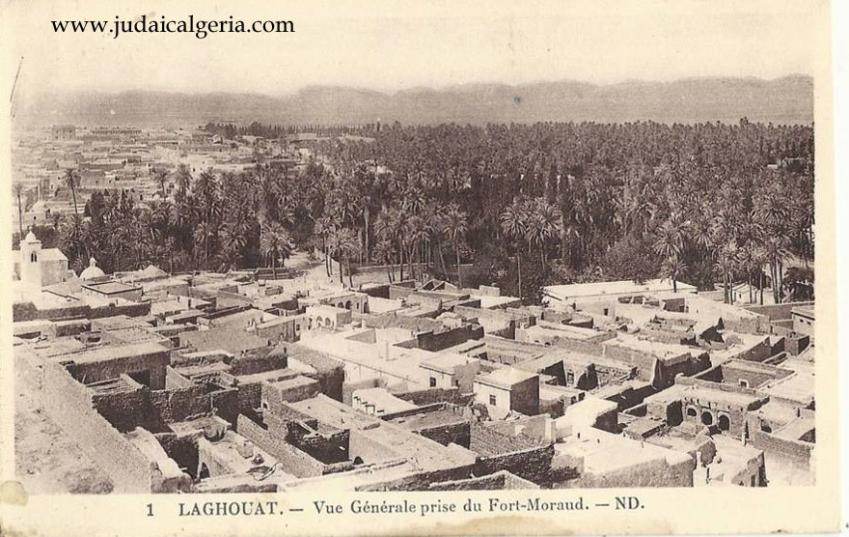 Laghouat vue generale prise depuis le fort morand