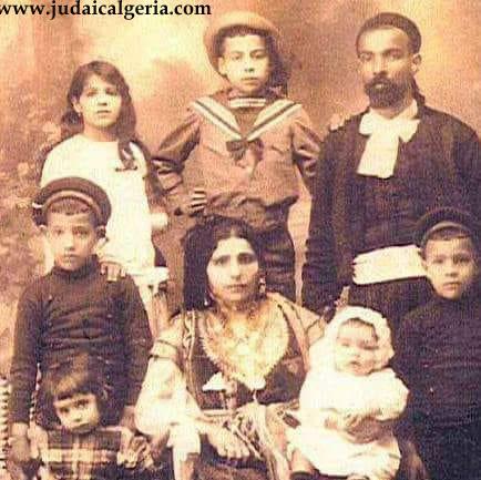 Le rabbin daoud doukkhan et sa famille constantine fin 19eme siecle