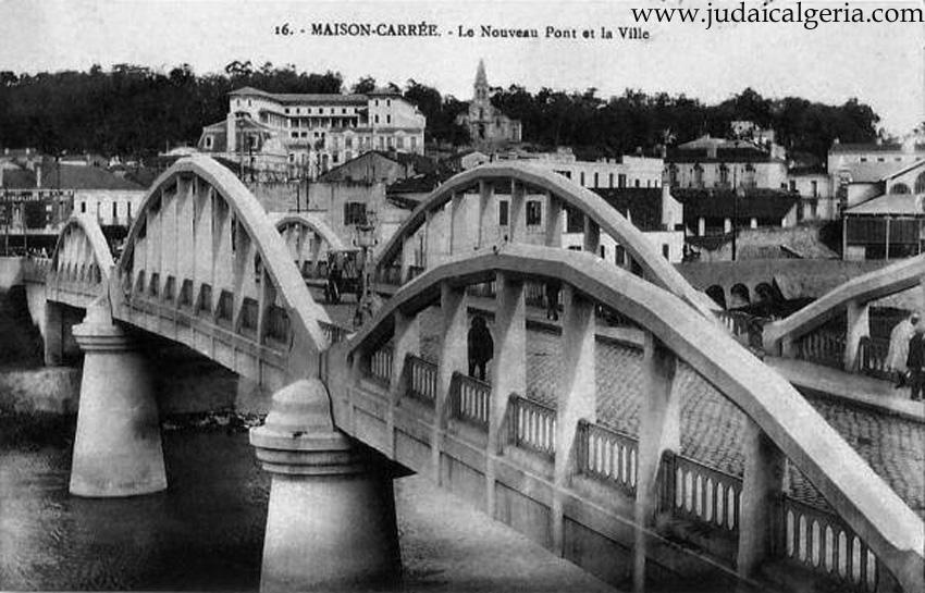 Maions carrees le nouveau pont et la ville