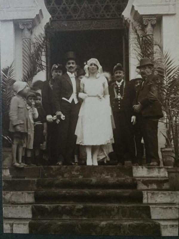 Mariage de mes grands parents a la grande synagogue d alger