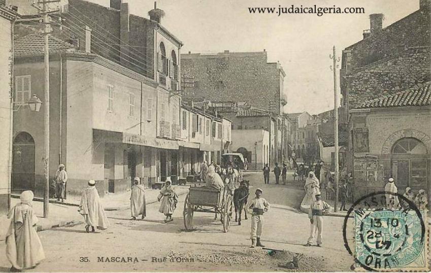 Mascara rue d oran carte de 1907