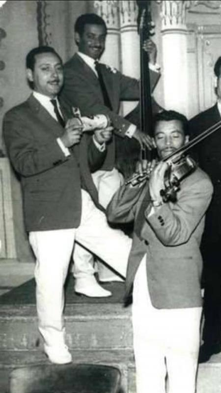 Maurice el medioni avec le virtuose du violon ben d hiba aveugle de naissance