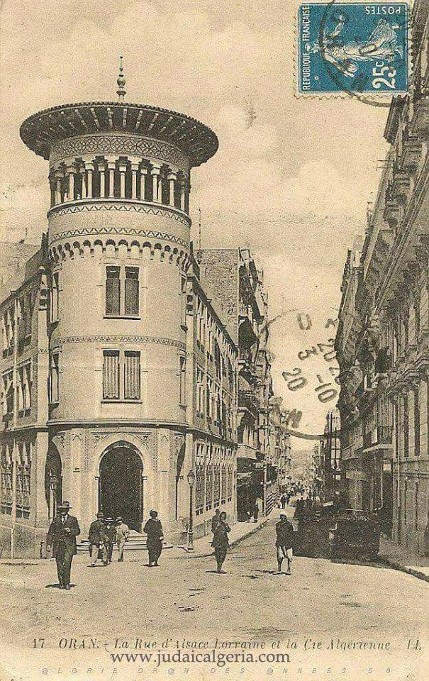 Oran rue alsace lorraine en 1920