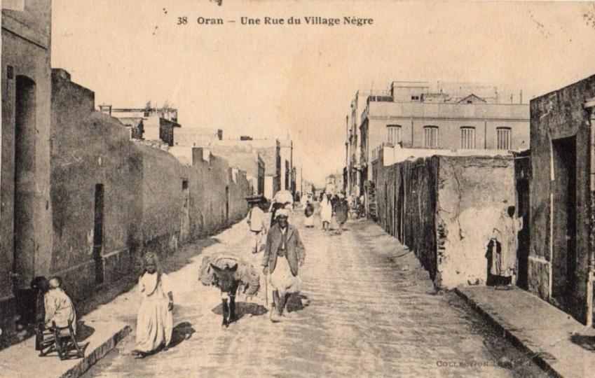Oran une rue du village negre