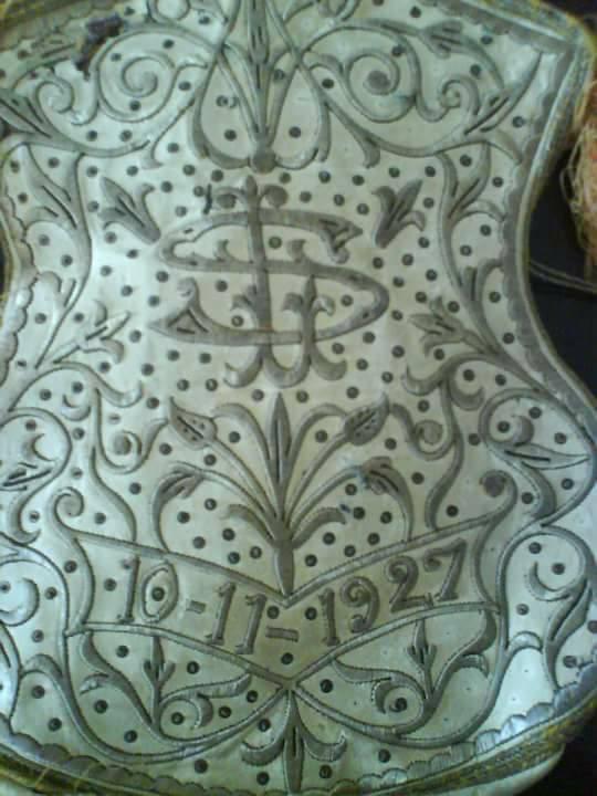 Pochette de tefilines detail