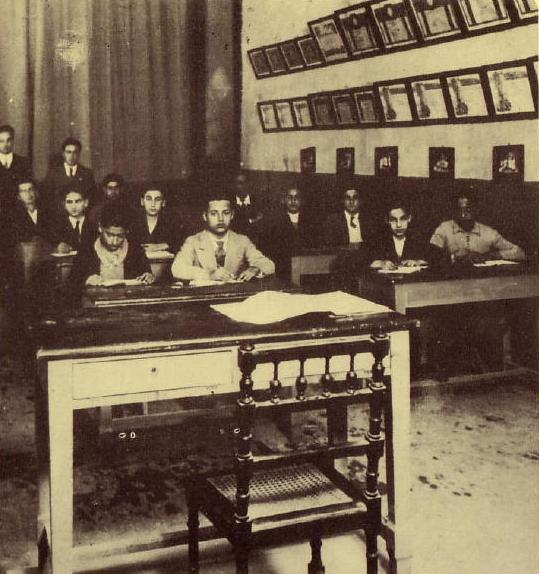 Salle de classe juive libyenne dans la synagogue de benghaz