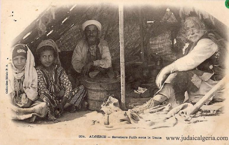 Savetiers juifs sous la tente