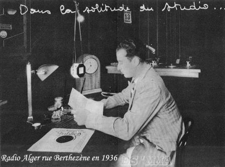 Studio radio alger en 1936