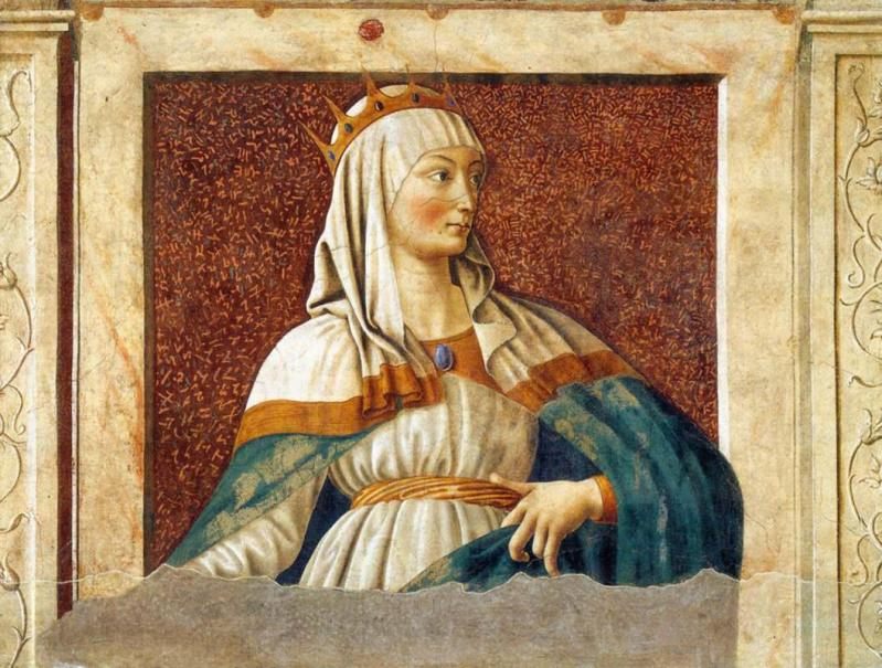 Tableau de la reine esther andrea del castagno 1450