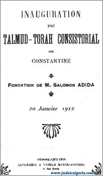Talmud torah constantine 1